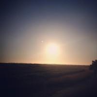 Zonsondergang bij de Noordsvaarder, Terschelling (Instagram)
