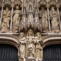 Ingang van de Sintt Michiels en Goedelekathedraal in Brussel
