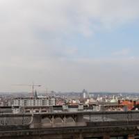 Uitzicht vanaf het plein bij het Justitiepaleis in Brussel