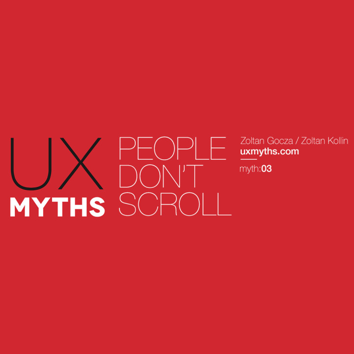 People don't scroll: UXMyths