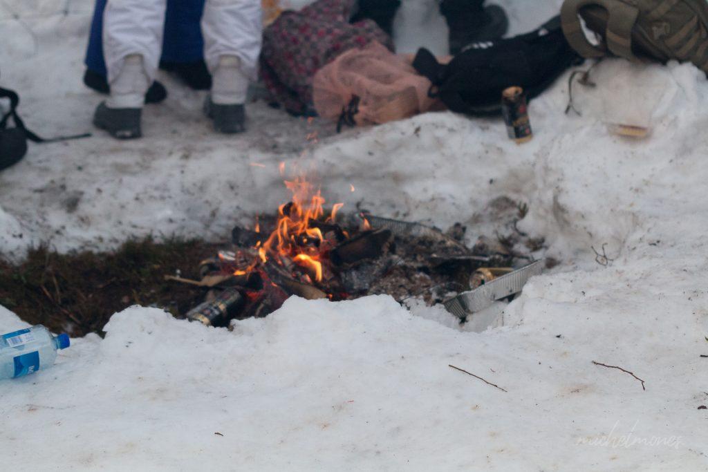 Lekker warme vuurtjes bij de rally Zweden!